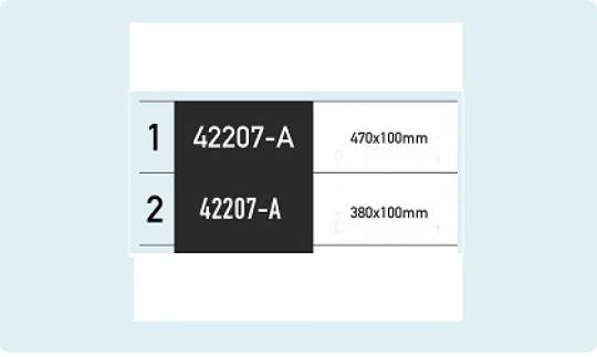 Combination package: owner's plate + 2 self-adhesive boat number plates